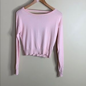 Garage pink sweater with large key hole back